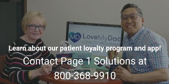 Learn about our patient loyalty program and app - Contact Page 1 Solutions at 800-368-9910