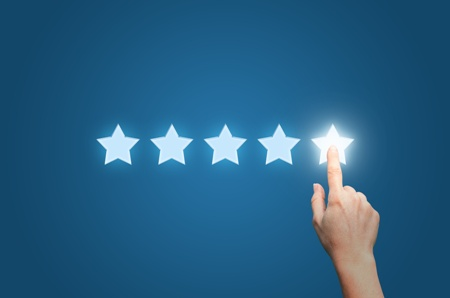 five star reviews for attorneys, doctors, and dentists