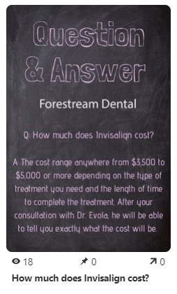 Pinterest post by Forestream Dental