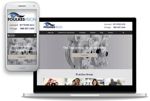 mobile-first website design for LASIK surgeons and ophthalmologists