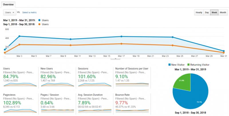 Google Analytics overview example
