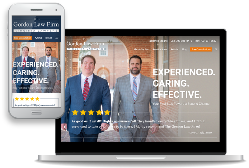 custom website design for The Gordon Law Firm