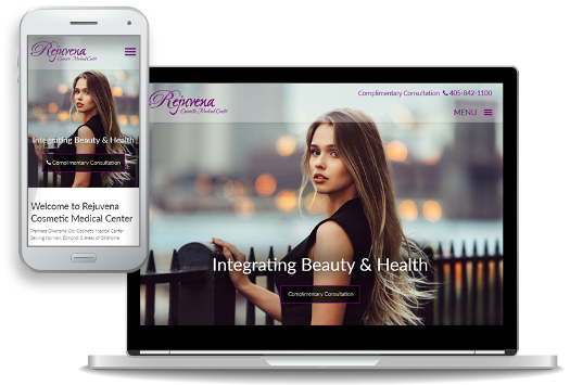 mobile-first website design for Rejuvena Cosmetic Medical Center