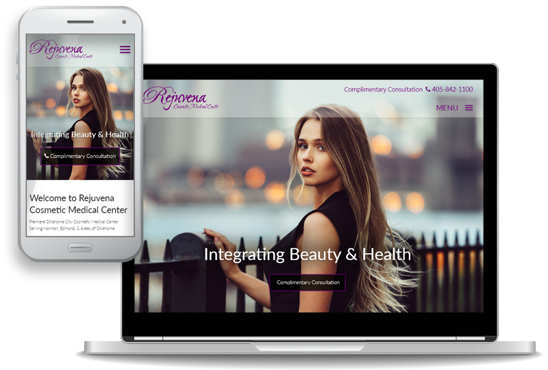 custom website design for Rejuvena Cosmetic Medical Center in Oklahoma City