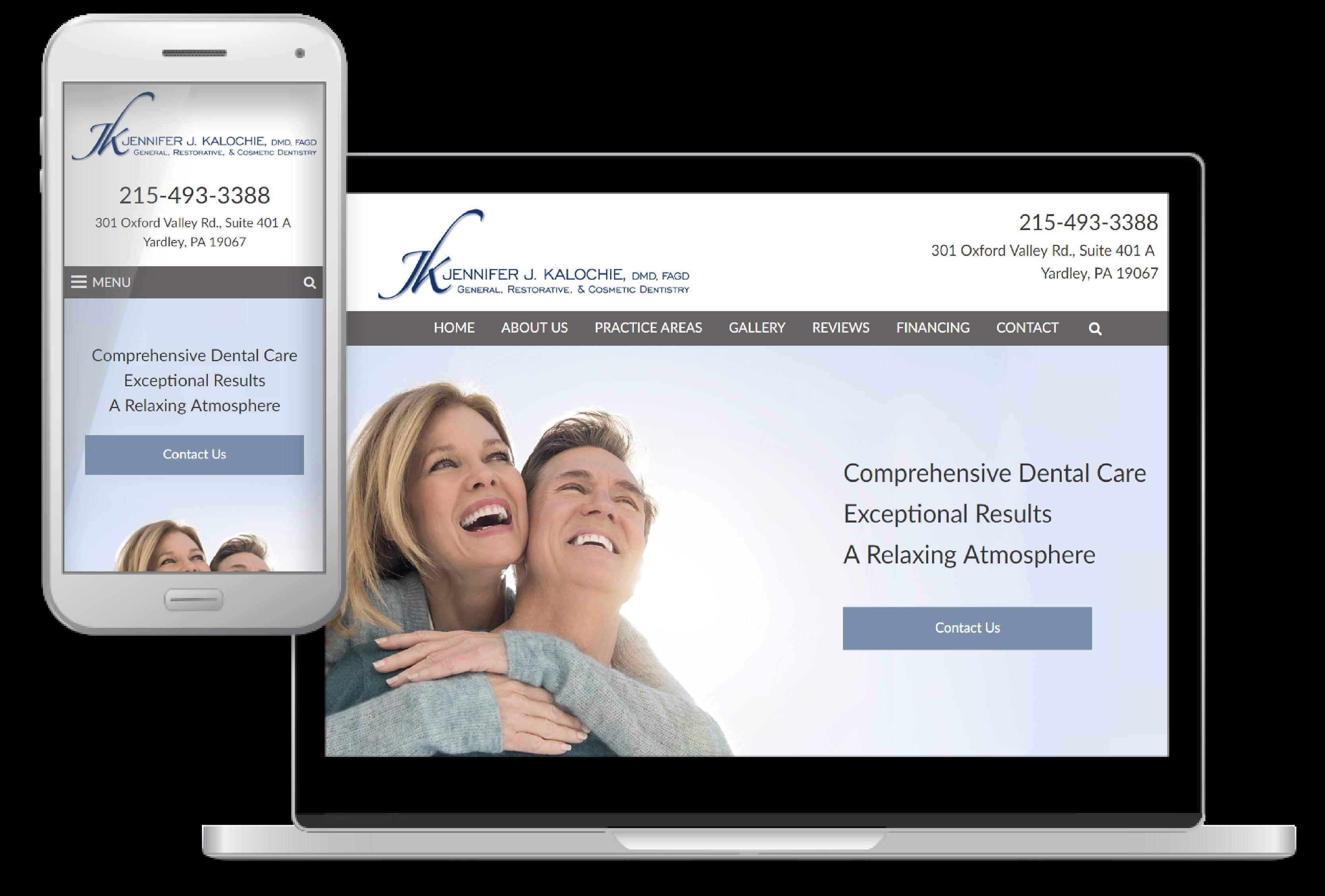 website design for Jennifer Kalochie, DMD