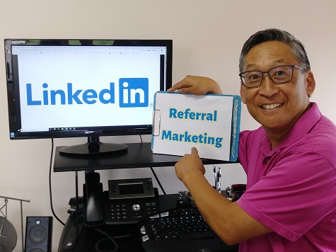 Bill Fukui on LinkedIn referral marketing