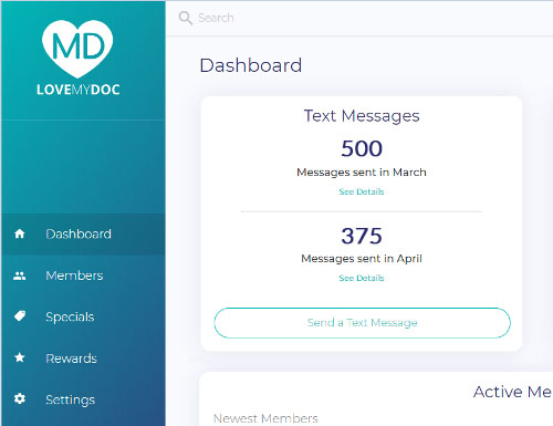 LoveMyDoc webmin dashboard with push notifications | Page 1 Solutions