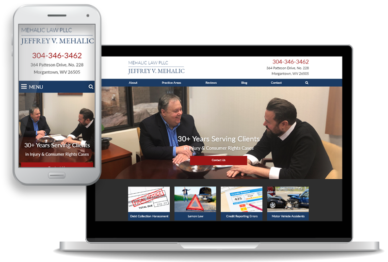 website design for Mehalic Law PLLC | Page 1 Solutions