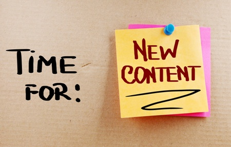 time for new content on your website | Page 1 Solutions