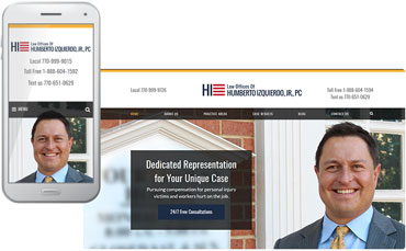 Law Offices of Humberto Izquierdo, Jr. - lawyer website