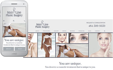 Main Line Plastic Surgery - new website design