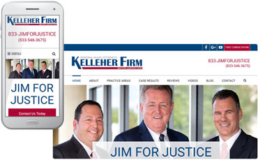 The Kelleher Firm - attorney website desgin