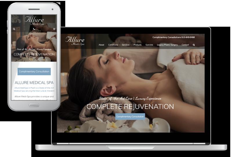 mobile-first website design for Allure Medi-Spa