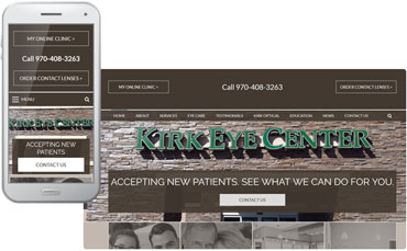 Kirk Eye Center - Ophthalmology website redesign