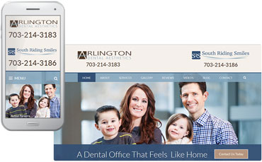 Arlington Dental Aesthetics and South Riding Smiles new website design