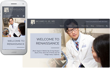 Richard H. Lee, MD plastic surgeon website design