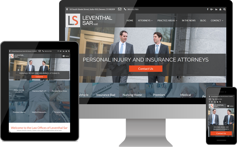 Leventhal Sar LLC Responsive Website - Desktop, Tablet & Mobile Views