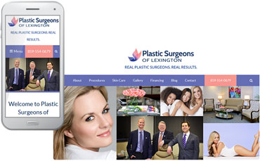 Plastic Surgeons of Lexington - redesigned website