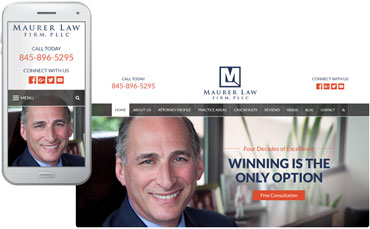 The Maurer Law Firm - website design