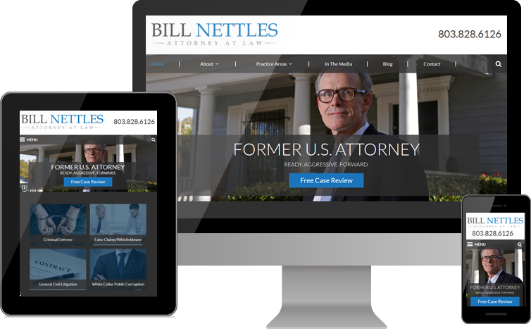 Law Office of Bill Nettles - Custom Legal Website Design