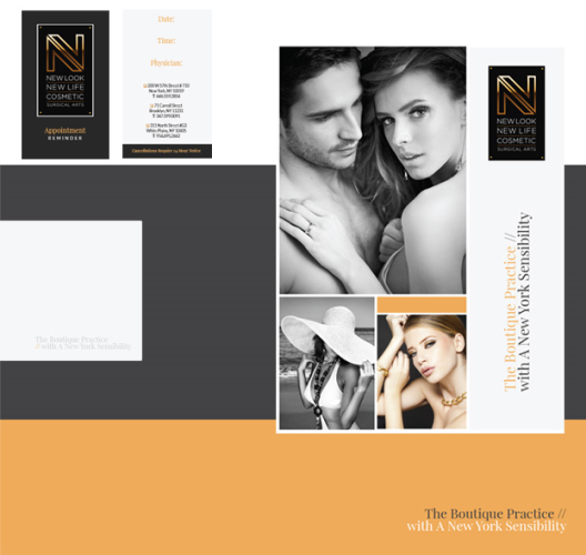 print and promotional materials for New Look New Life Cosmetic Surgical Arts