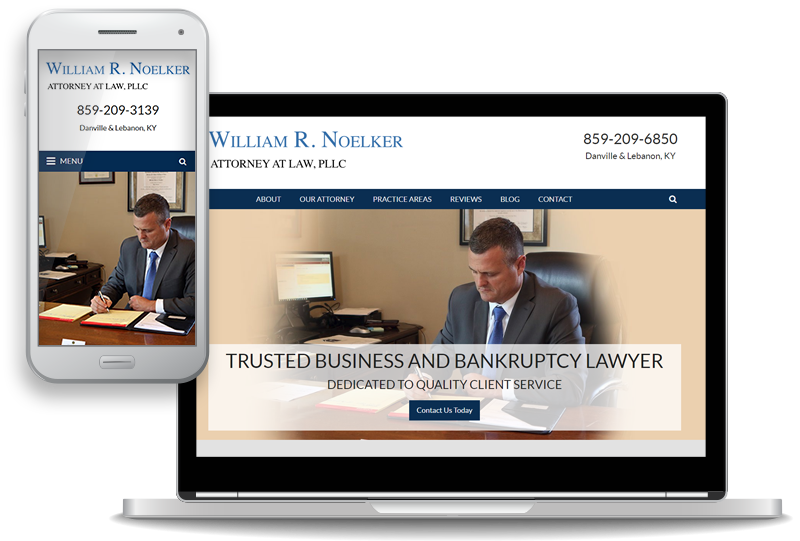 mobile-first website design for William R. Noelker Attorney at Law