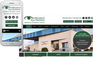 Northeastern Eye Institute - ophthalmology website design