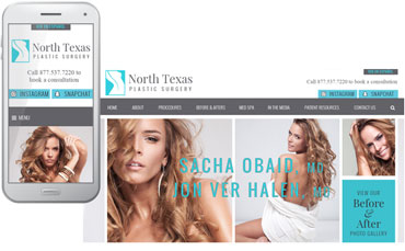 North Texas Plastic Surgery - website design