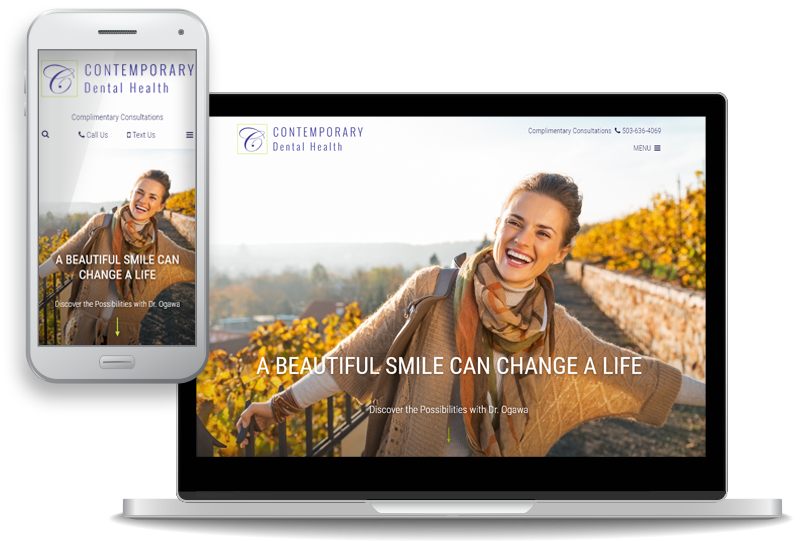 custom, mobile-first website design for Contemporary Dental Health - Dr. Keith Ogawa