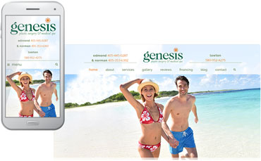New website design for Genesis Plastic Surgery and Medical Spa