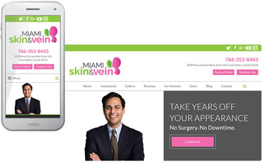 Miami Skin & Vein - med spa website design