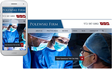 Polewski & Associates - website redesign for law firm