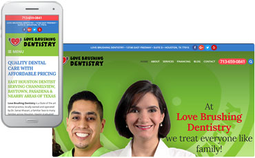 Love Brushing Dentistry website redesign