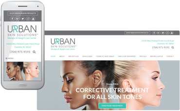 Urban Skin Solutions - dermatology website design
