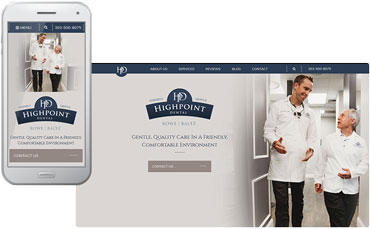 Highpoint Dental Care - Dental website design