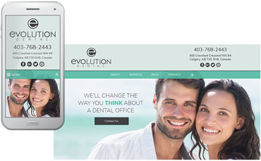 Evolution Dental website design