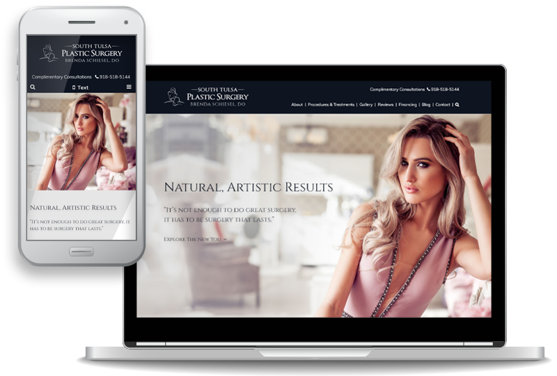 mobile-first custom website design for South Tulsa Plastic Surgery