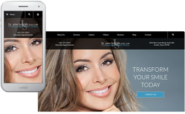 Contemporary Cosmetic Dentistry website design