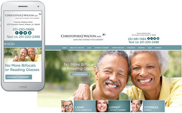 Christopher J. Walton, M.D. - Ophthalmology website design