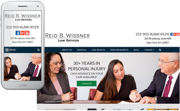 Reid B. Wissner Law Offices - attorney website redesign