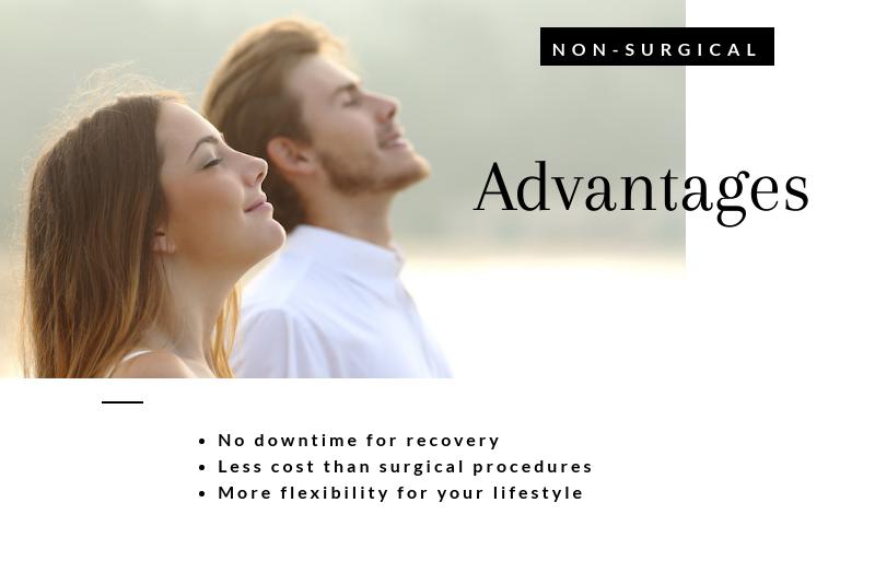 Advantages of Non-Surgical Treatment