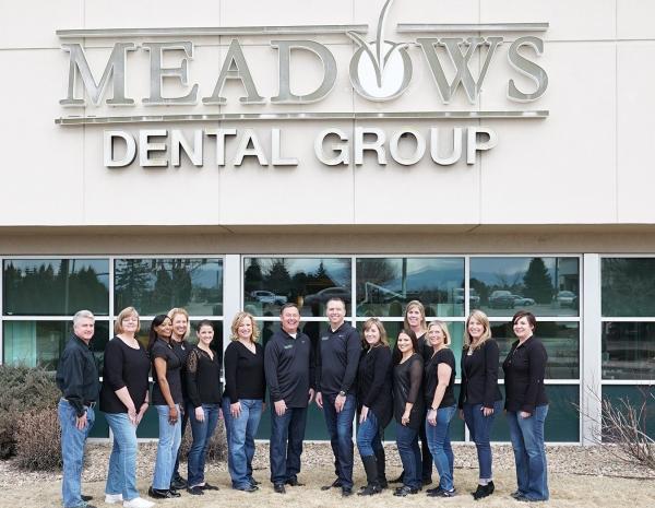 outdoor photo of Meadows Dental Group team