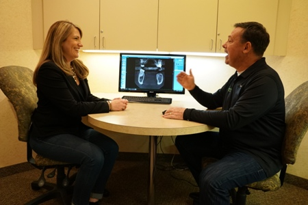 dental implant consultation with Dr. Joseph O'Leary