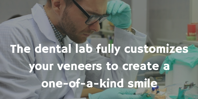 dental technician customizes porcelain veneers for best results