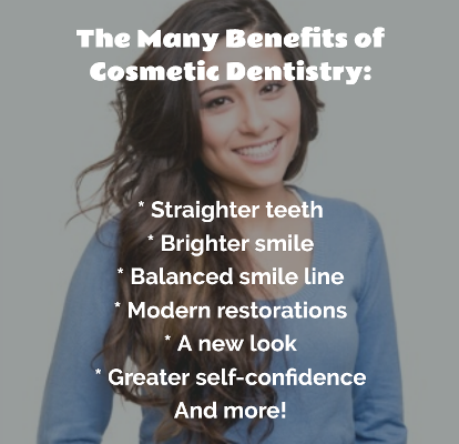 image listing benefits of cosmetic dentistry