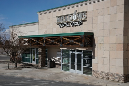front entrance to Meadows Dental Group office