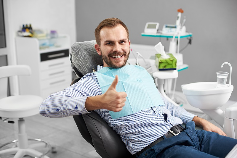 Sedation dentistry patient at Meadows Dental Group