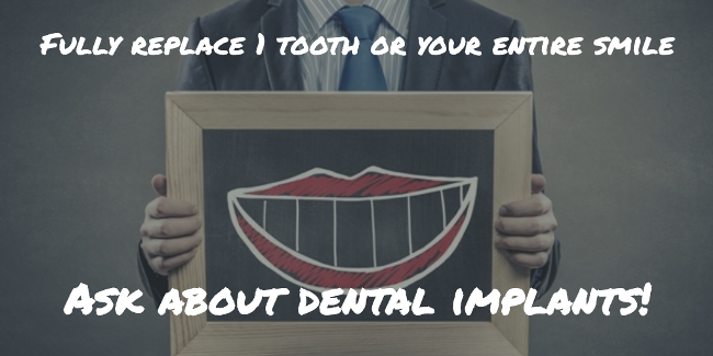 image illustrating what dental implants can do