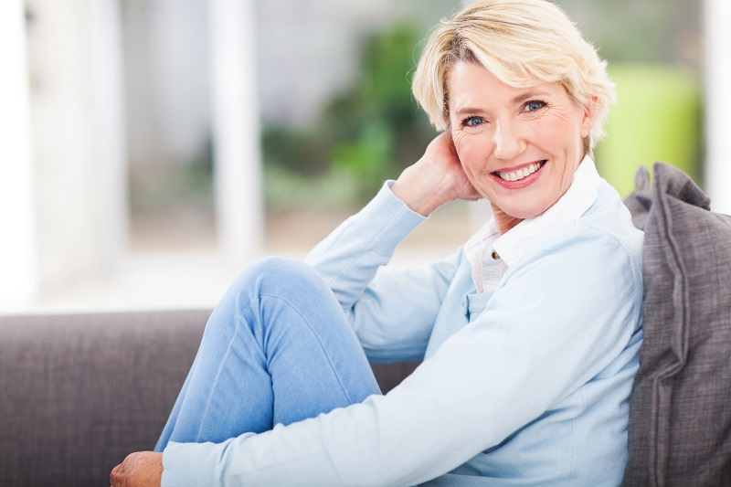 Woman after All-on-4 implants at Meadows Dental Group