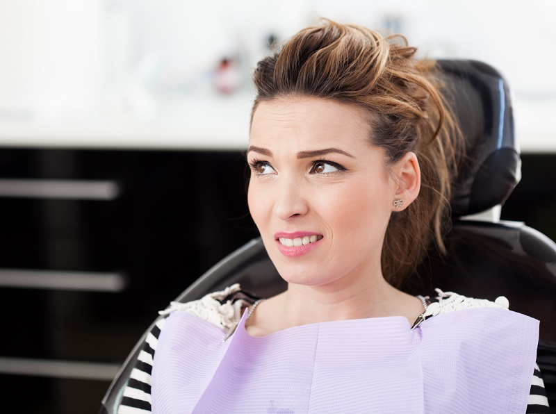 Woman with dental anxiety at Meadows Dental Group
